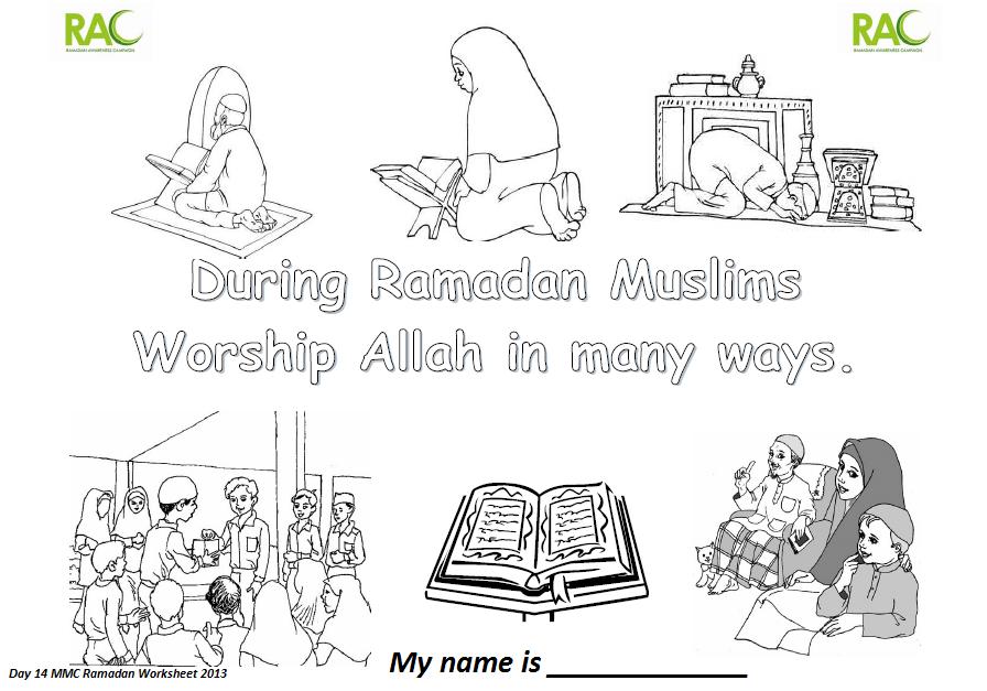 Ramadan Worksheets Given Out During Taraweeh In Melton 2013