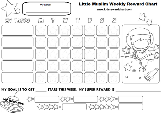 Little muslim reward chart _ aged 6 up