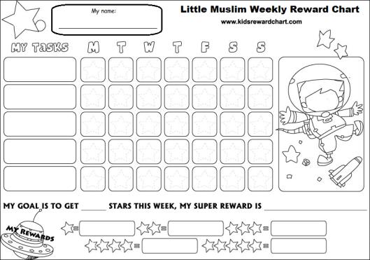 Little muslim reward chart _ aged 6 up
