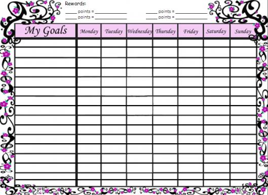 tween muslimah reward chart 2