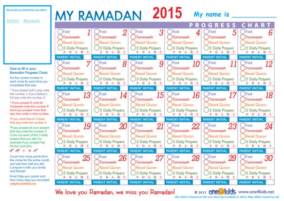 ramadan chart 2015 for kids_poster