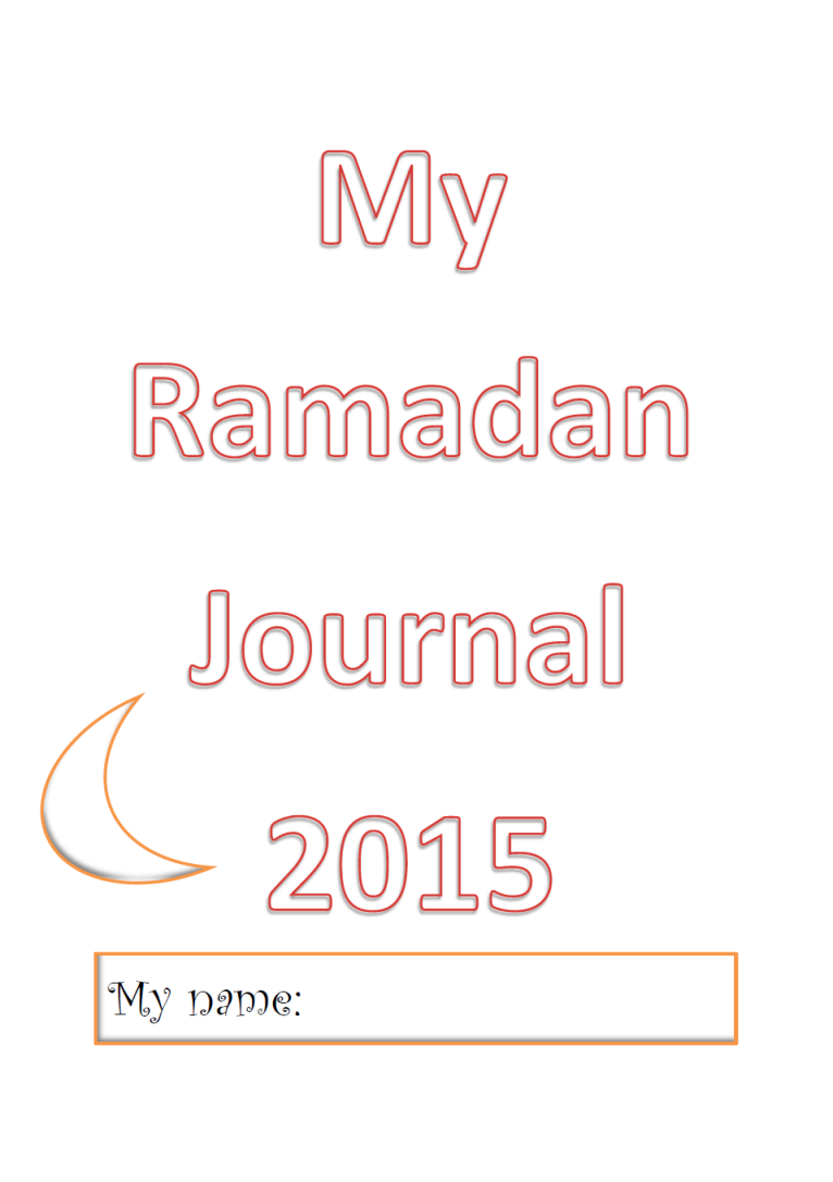 ramadan journal cover plain