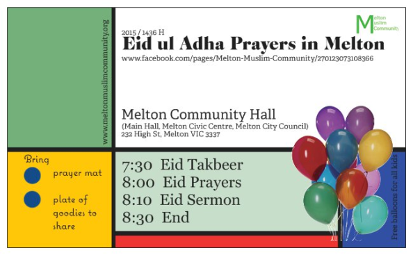 eid ul adha prayers melton 2015