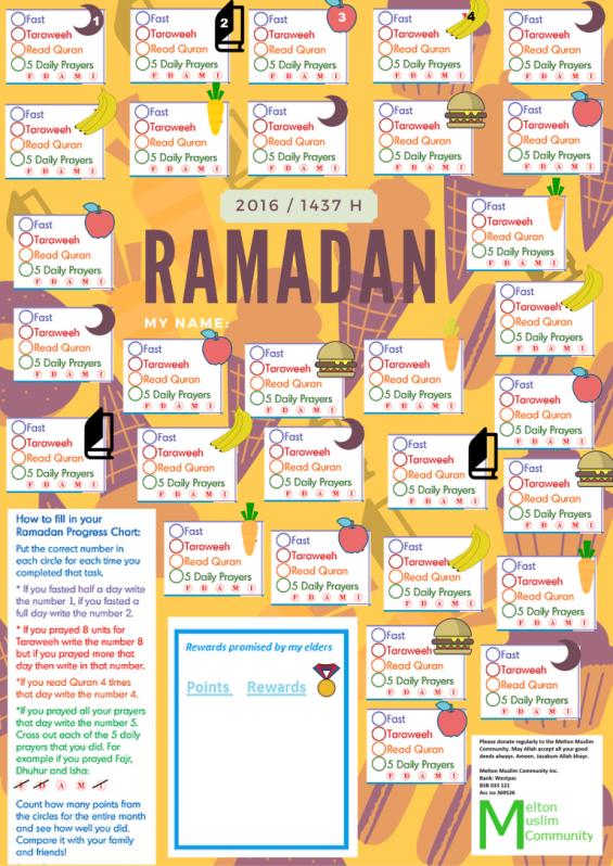 ramadan chart for kids 2016 _2