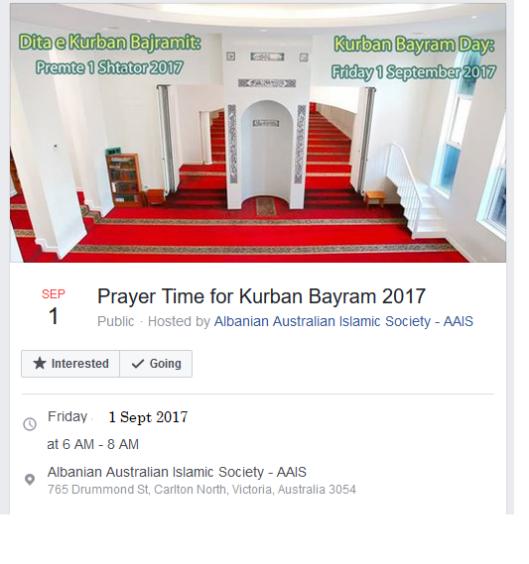 aais melbourne 2017 eid prayers