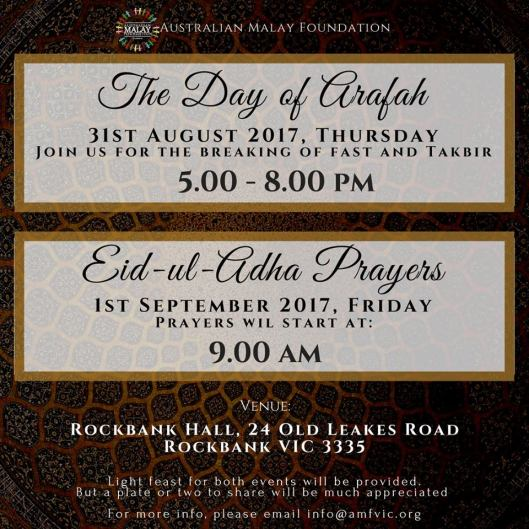 australian malay foundation eid prayers 2017 rockbank