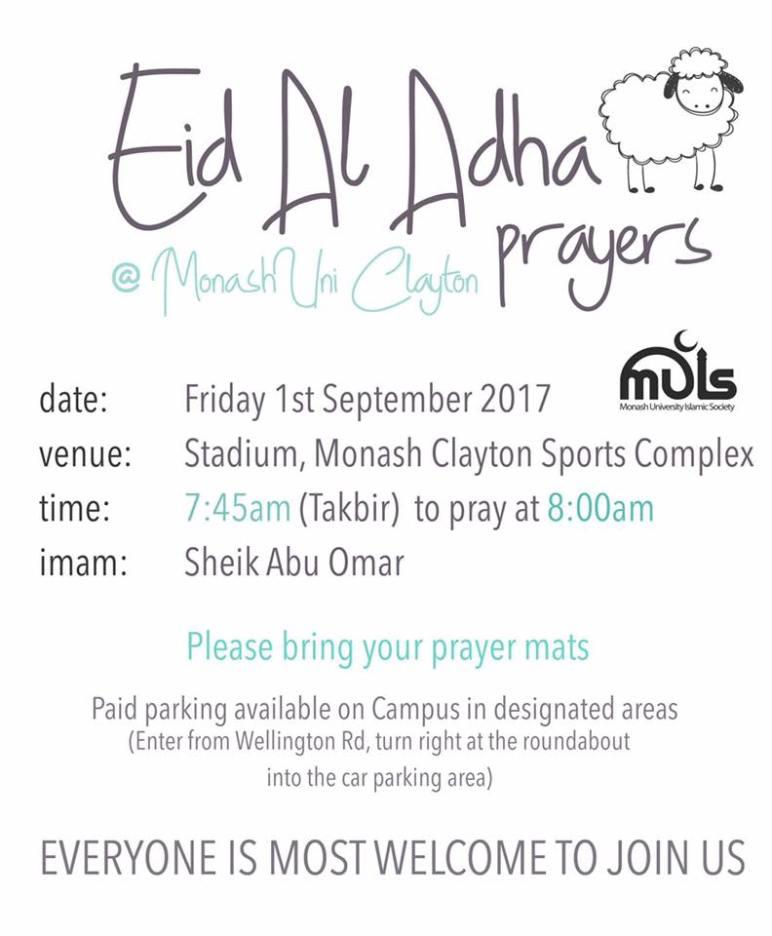 monash eid prayers version 2 ___ 2017