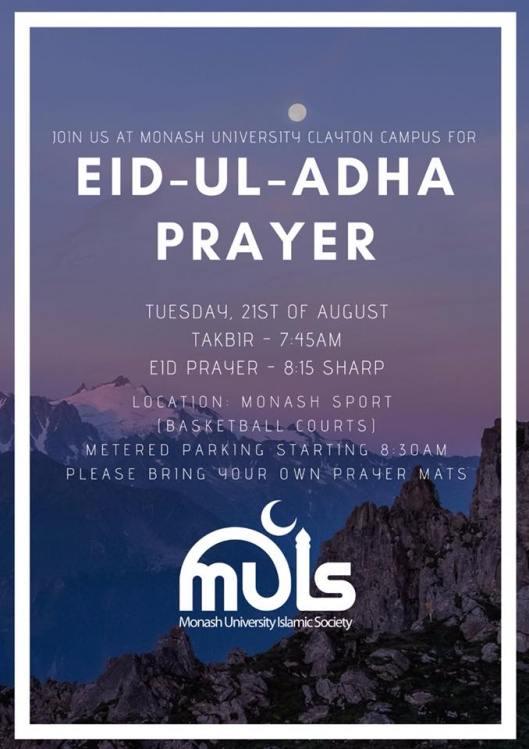 eid al adha prayers melboune 2018 _ 2
