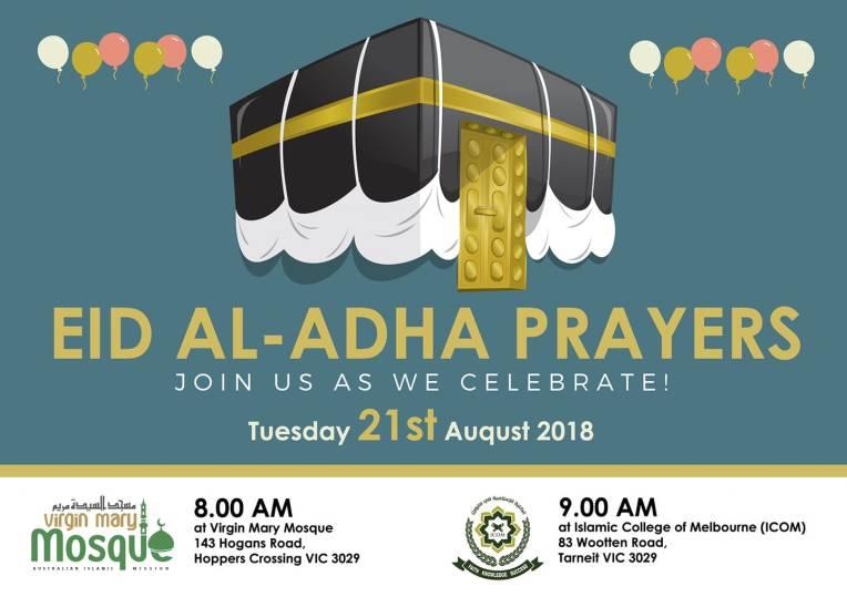 icom and virgin mary mosque eid prayers 2018